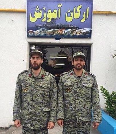 عکس: ماهینی و افشین در لباس نیروی دریایی