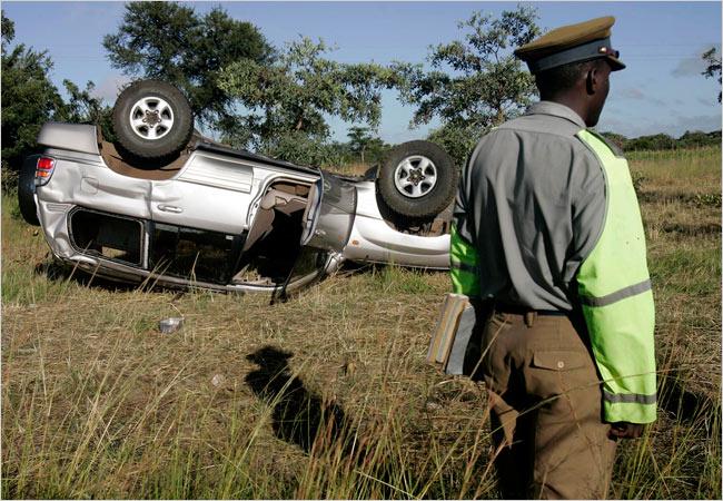 آفریقاییها بیش از همه در تصادفات رانندگی میمیرند