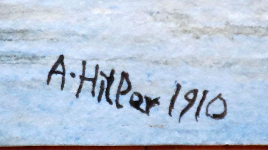 تابلوهای نقاشی هیتلر در حراجی به فروش نرفت