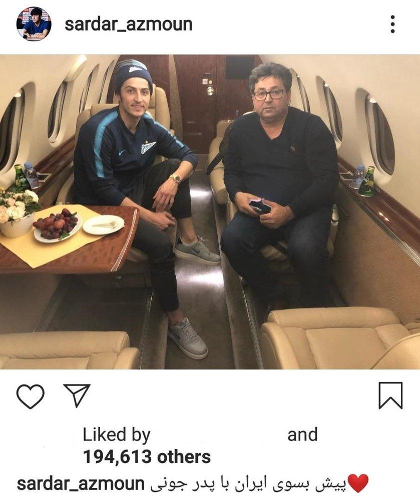 بازگشت سردار آزمون به ایران با جت شخصی/ عکس