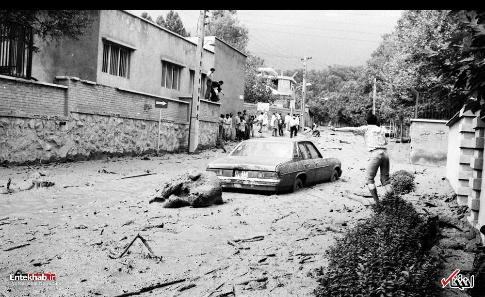 گزارش تصویری؛ روزی که سیل تهران را برد
