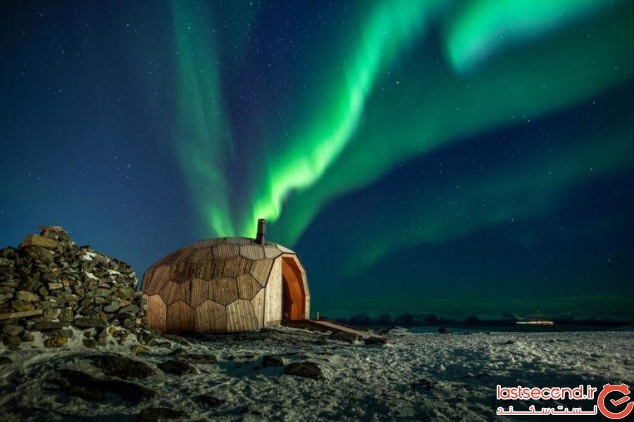 سرپناه چوبی عجیبی که در شمالی ترین شهر دنیا ساخته شده است