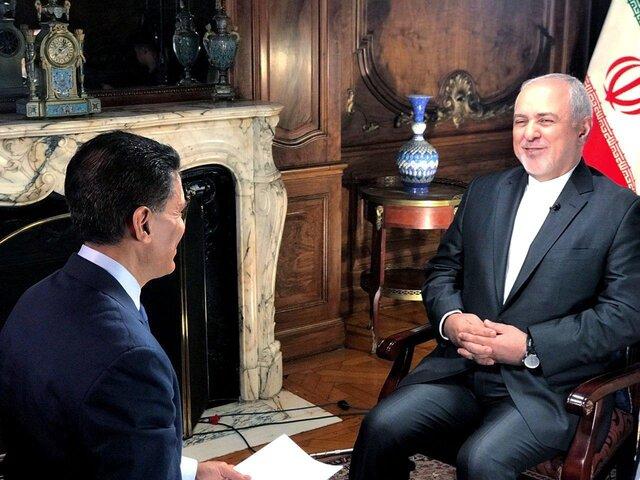ظریف در گفتگو با CNN: ترامپ نامهای به رهبر ایران نداد