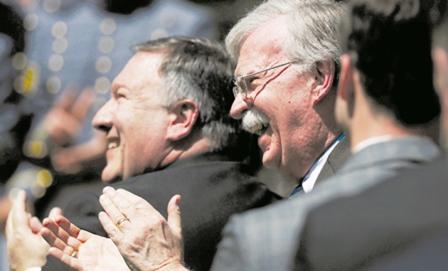 بولتون به کرسی وزارت خارجه آمریکا چشم دارد