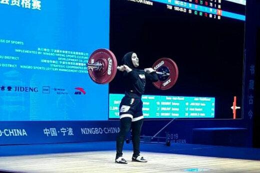پایان کار اولین زن وزنه بردار ایران با ۲ رکورد ملی