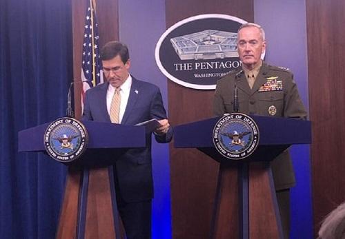 وزیر دفاع آمریکا از اعزام نیرو به سعودی خبر داد