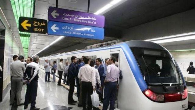 خودکشی مرد ۶۰ساله در خط سه مترو تهران