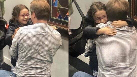 دختر نازنین زاغری پس از ۴ سال به پدرش در بریتانیا پیوست