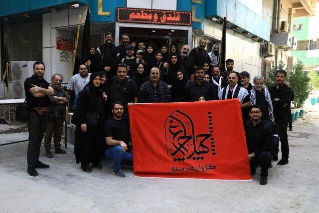مسعود فراستی در کاروان هنرمندان پیادهروی اربعین