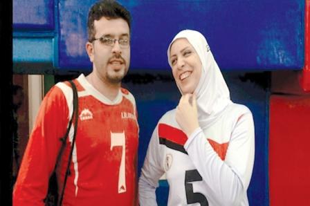 کاپیتانی خواهر و برادر در تیم ملی گلبال 