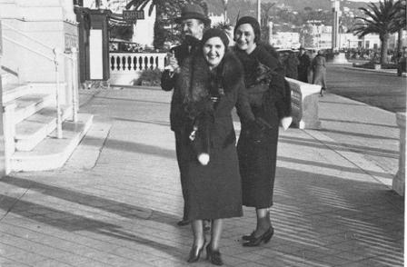 یک مرد و دو زن جنوب فرانسه قبل از جنگ جهانی