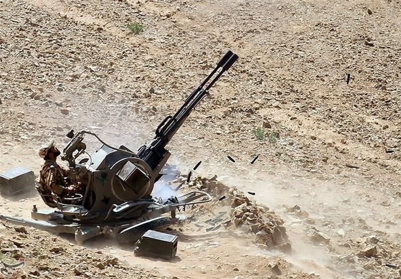 شکار یک پهپاد توسط پدافند هوایی ارتش