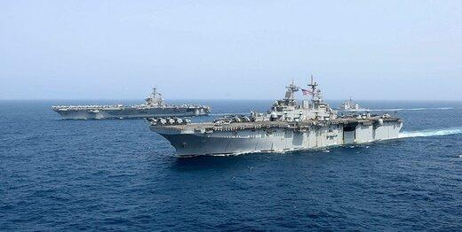 ۳ کشتی جنگی آمریکایی، منطقه را ترک کردند