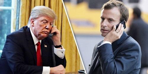 تماس تلفنیِ مثبت مکرون با ترامپ درباره ایران