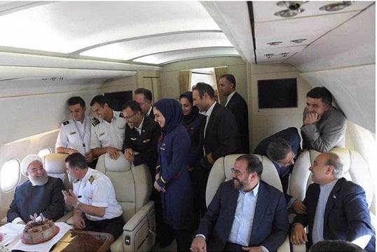 سورپرایز رئیس جمهور در هواپیما