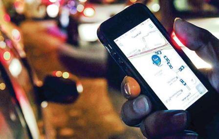 کلک آنلاین برای درخواست تاکسی اینترنتی