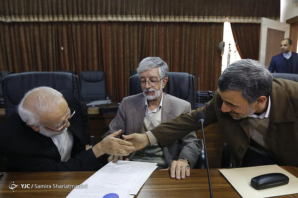 حالت چهره حدادعادل و سعید جلیلی در کنار احمدی نژاد