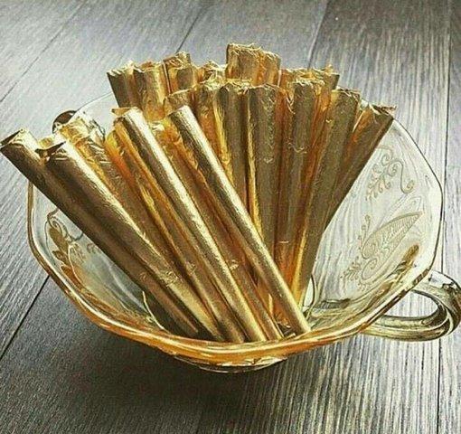 سیگار با طعم بلوبری و روکش طلا