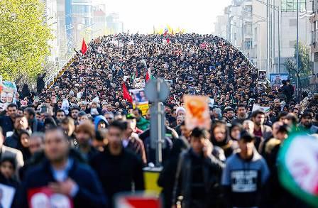 حیرت جهانی از جمعیت عزاداران در تهران