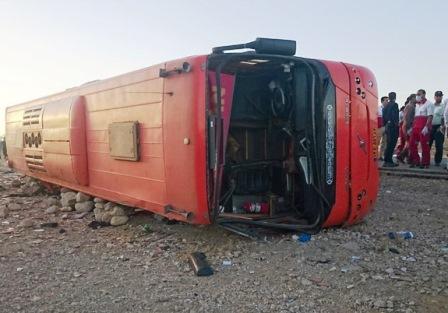 تصادف مرگبار اتوبوس و مینیبوس در اتوبان ساوه