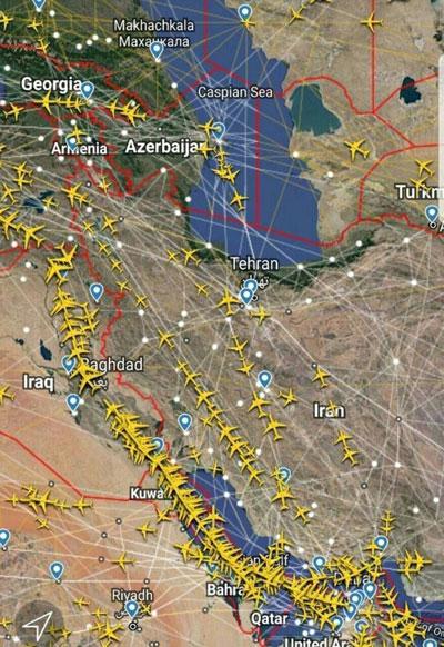بازگشت پروازهای عبوری به آسمان ایران
