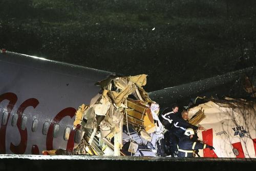 مصدومیت ۵۲ نفر در سانحه هواپیما در فرودگاه استانبول