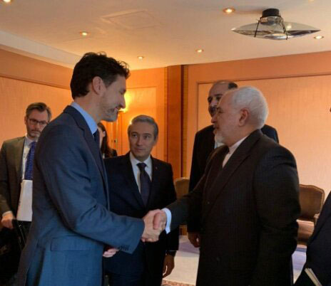 دیدار ظریف با نخستوزیر کانادا در مونیخ