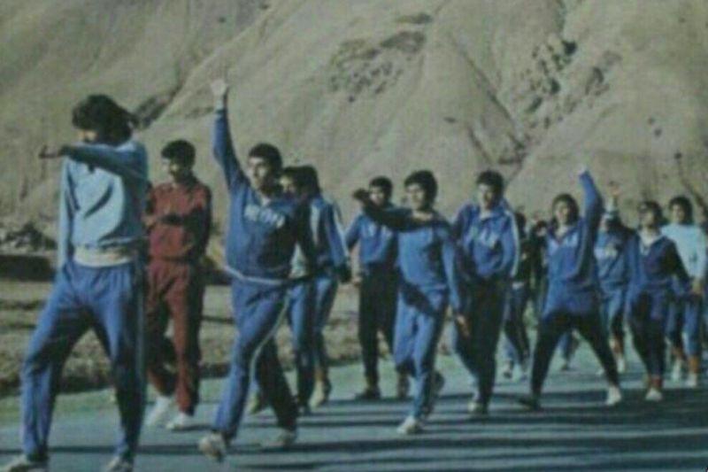 عکس زیرخاکی از تمرین تیم ملی