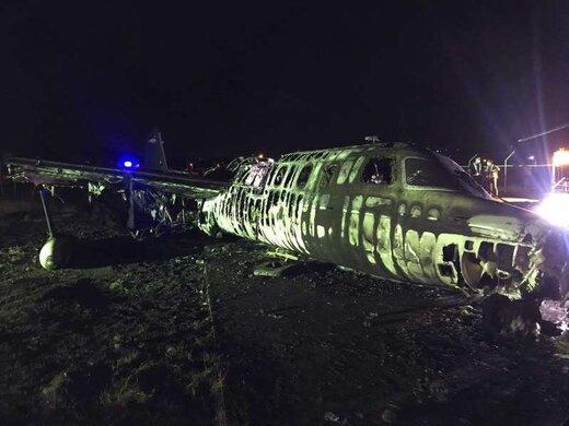 انفجار هواپیمای حامل فرد مبتلا به کرونا در فیلیپین