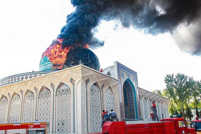 انفجار در خیابان کمیل و آتشسوزی مسجد ناجا