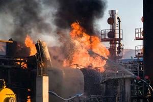 آتش سوزی در پالایشگاه تهران مهار شد