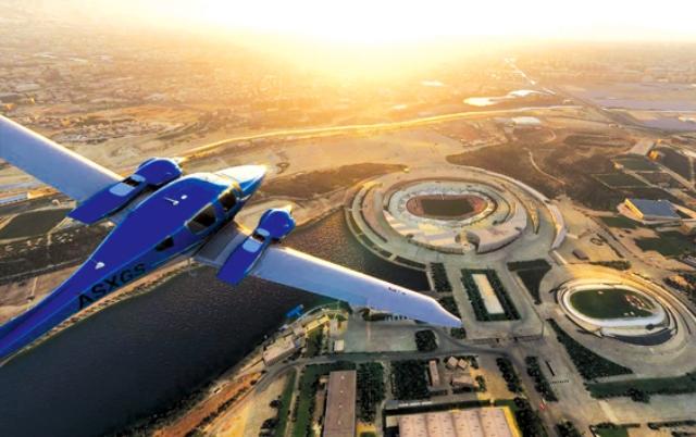 برفراز استادیوم آزادی با شبیهساز پرواز مایکروسافت