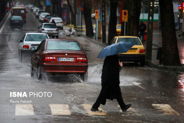 هشدار درباره رگبار باران، کاهش دما و وزش شدید باد