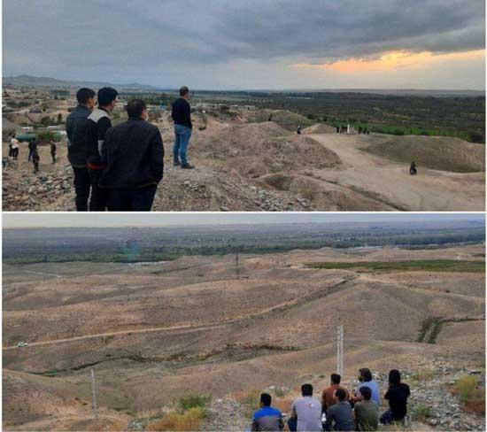 تماشاگران جنگ آذربایجان و ارمنستان در لب مرز!