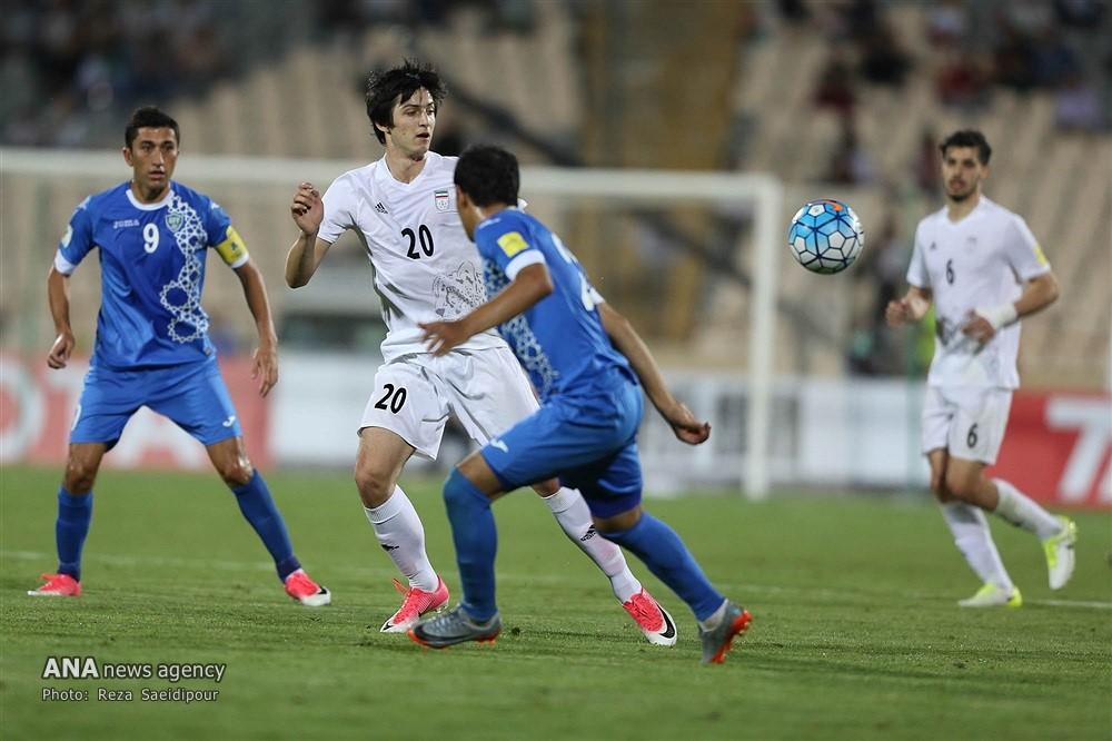 پیروز تیمملی فوتبال ایران مقابل ازبکستان