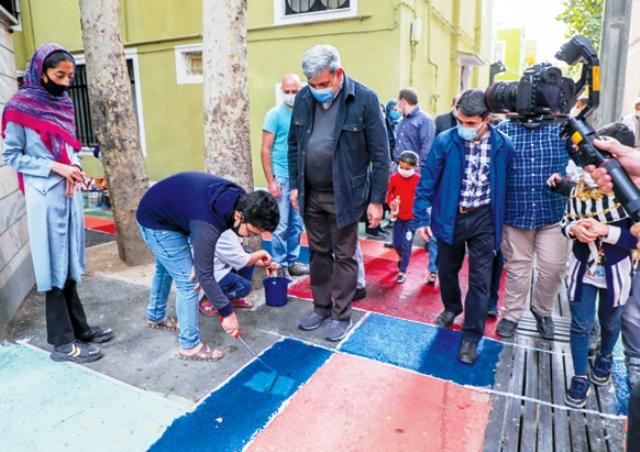 واکنشها به رنگآمیزی محلههای تهران توسط شهرداری