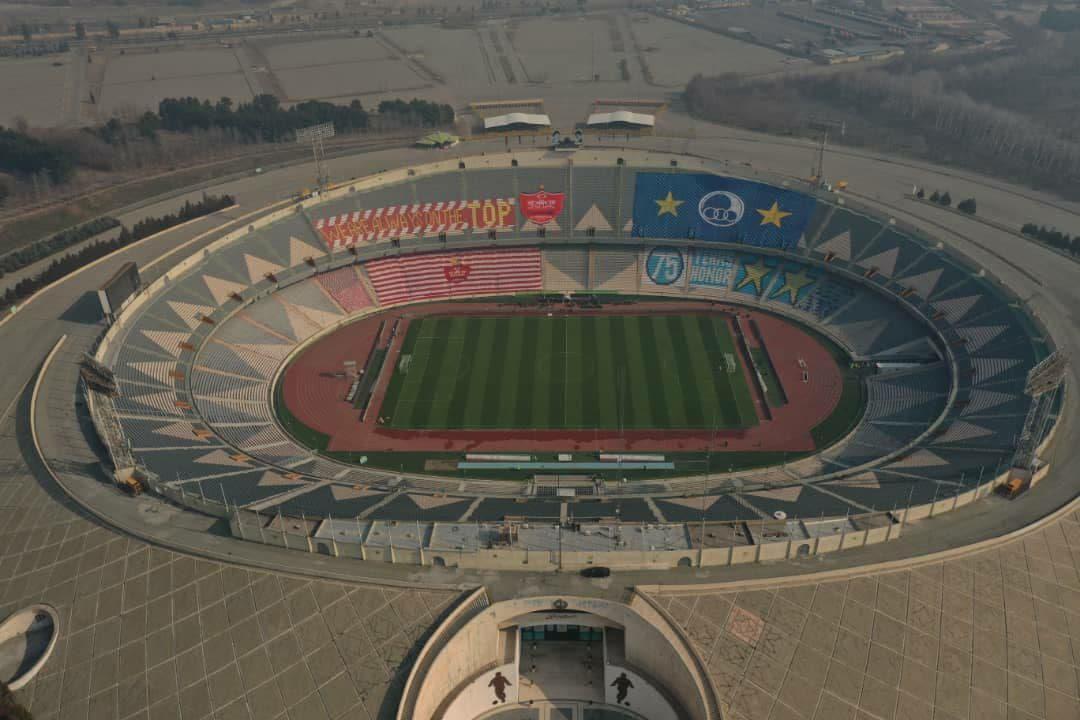 نمایی دیدنی از ورزشگاه آزادی در آستانه دربی ۹۴