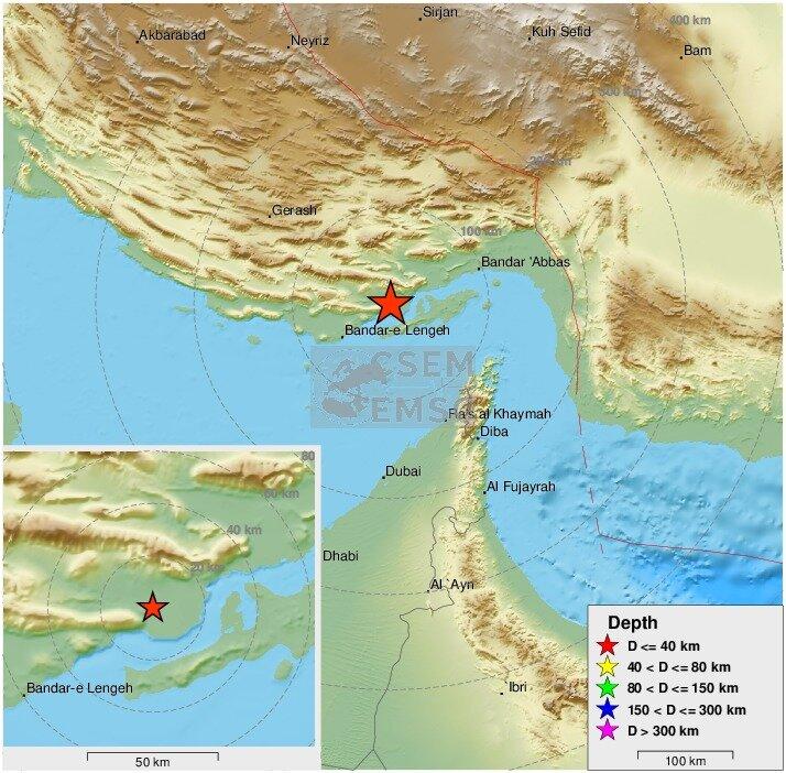وقوع زمینلرزه ۵٫۵ریشتری در حوالی خلیج فارس