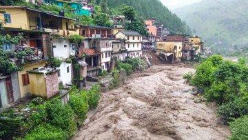 شکست یخچال طبیعی در هند با ۱۰کشته و۱۵۰ مفقود