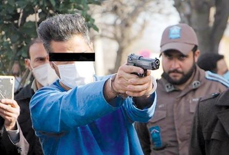 بازسازی صحنه قتل جلوی دادگستری کرمانشاه