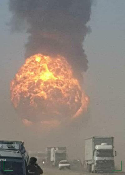 آتشسوزی مهیب در مرز افغانستان با ایران