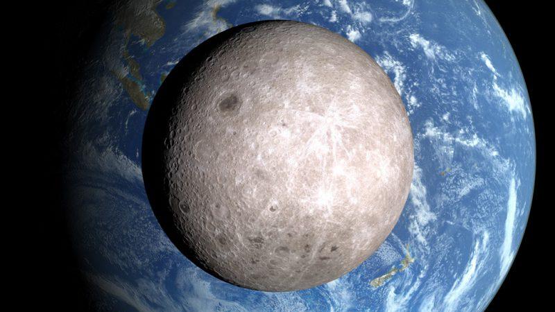 کشف یک قطعهسنگ عجیب در نیمه پنهان ماه