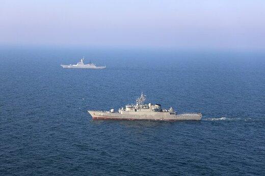 اولین مرحله ماموریت ناوهای ایرانی و روسی انجام شد