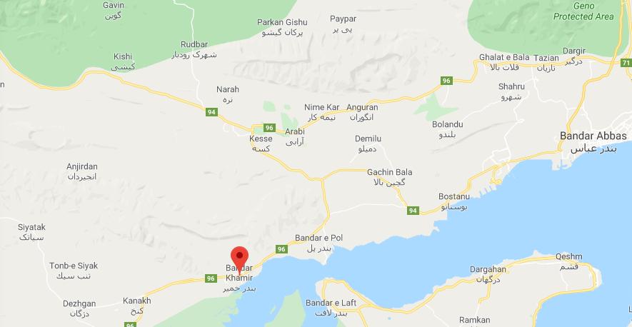 وقوع زلزله ۴.۱دهم ریشتری در بندر خمیر هرمزگان