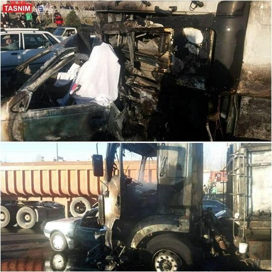 ۳کشته در پی تصادف هولناک کامیون با پژو