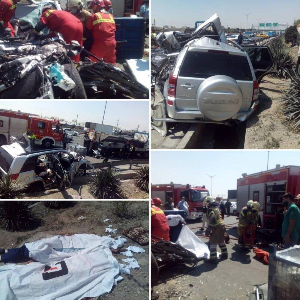 تصادف مرگبار در بزرگراه آزادگان تهران
