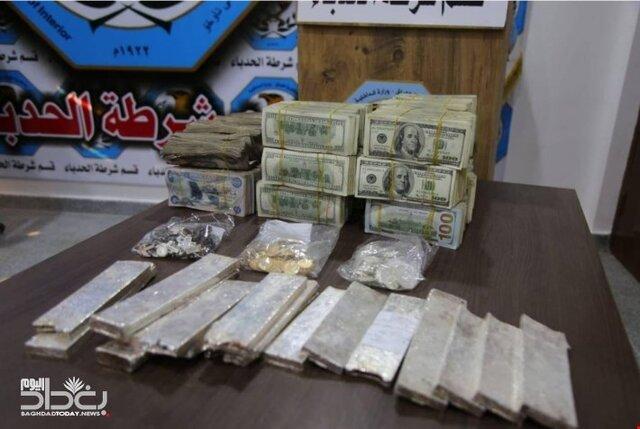 کشف مبالغ هنگفت دفن شده توسط داعش در موصل