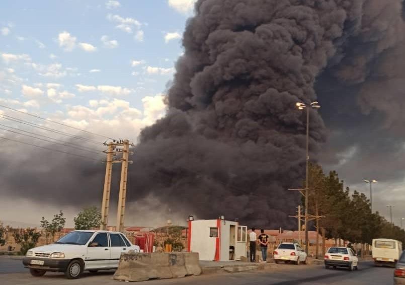جزییات آتشسوزی مهیب در کارخانه الکل قم