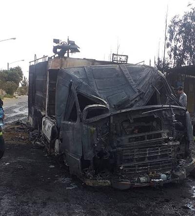 آتشسوزی امروز قم به خودروی آتشنشانی هم رحم نکرد