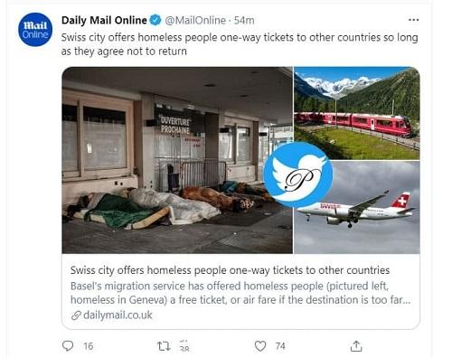 ابتکار متفاوت سوئیس برای بیخانمانها